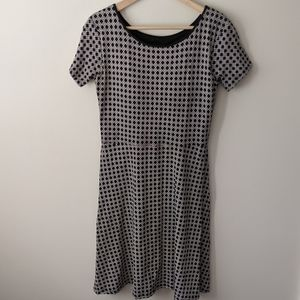 Uniqlo Black and White Mini Bra Dress